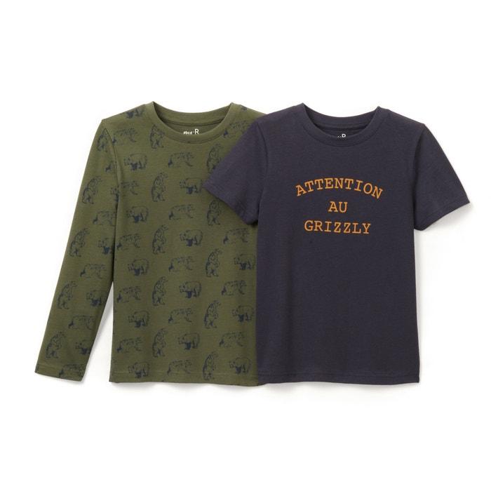 Image T-shirt 3-12 ans (lot de 2) La Redoute Collections