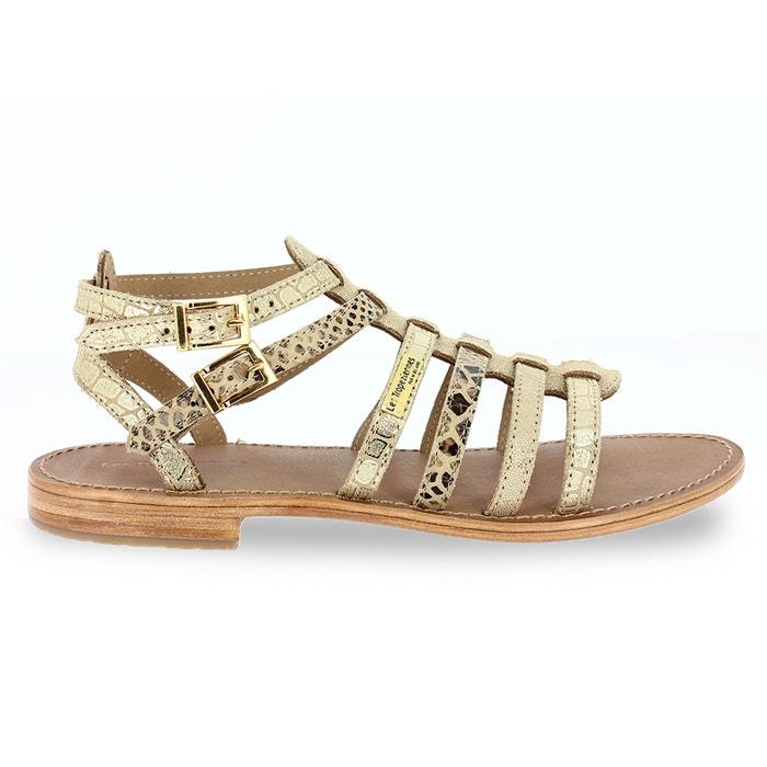 sandales cuir baille les tropeziennes par m belarbi or multicolore la redoute. Black Bedroom Furniture Sets. Home Design Ideas