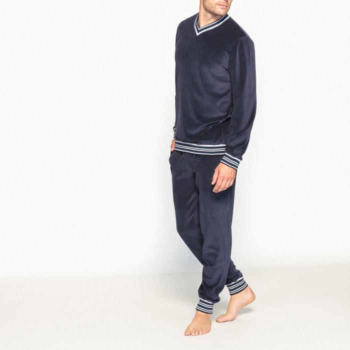 pyjama velours la redoute collections marine la redoute. Black Bedroom Furniture Sets. Home Design Ideas