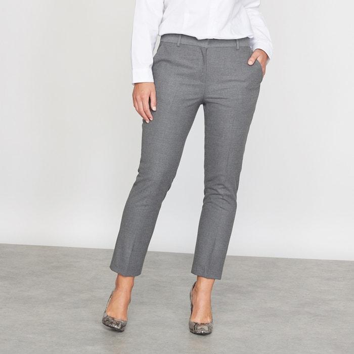 Image Flannel 7/8 Length Cigarette Trousers CASTALUNA