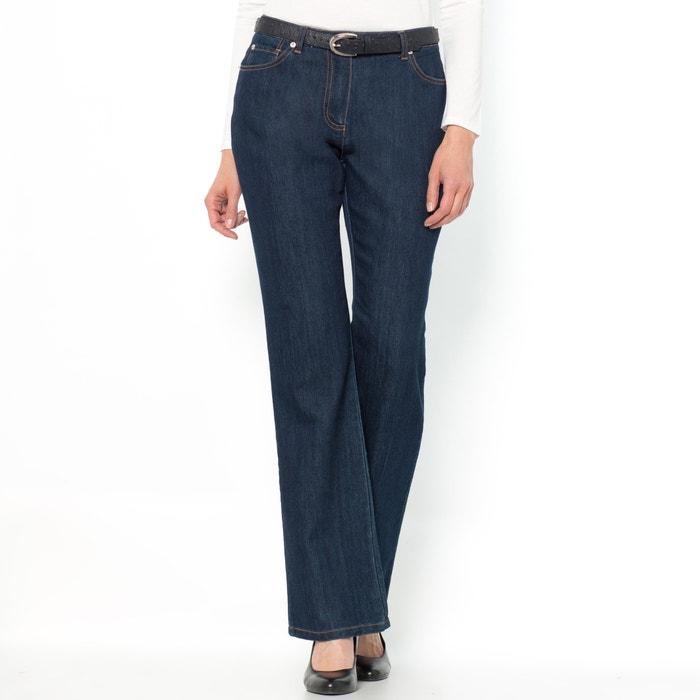 Image Flared Stretch Denim Jeans ANNE WEYBURN