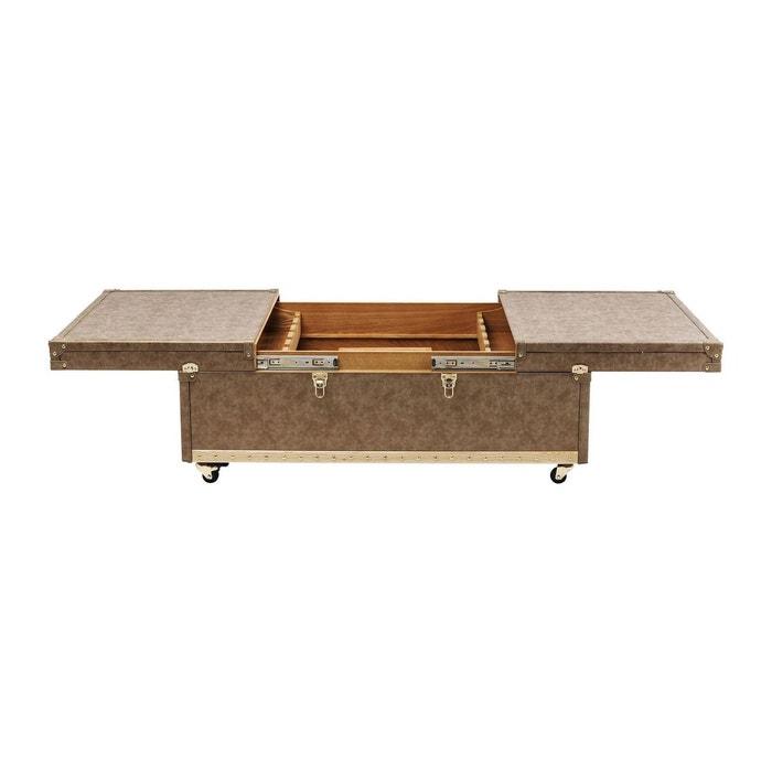 table basse bar west coast 120x75cm kare design marron kare design la redoute. Black Bedroom Furniture Sets. Home Design Ideas