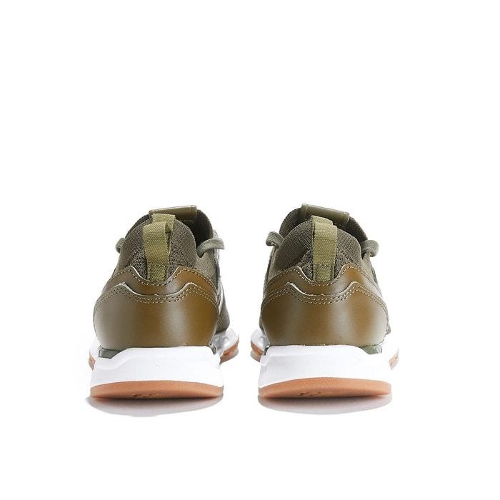 Baskets cuir kaki New Balance
