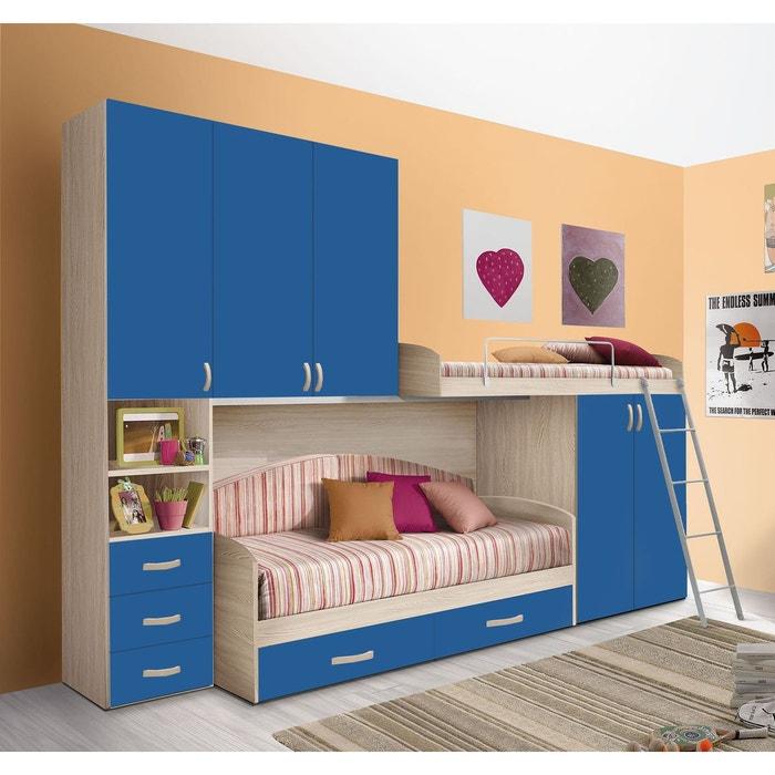Chambre d 39 enfant compl te hurra combin lits tages d cor for Taille minimum d une chambre