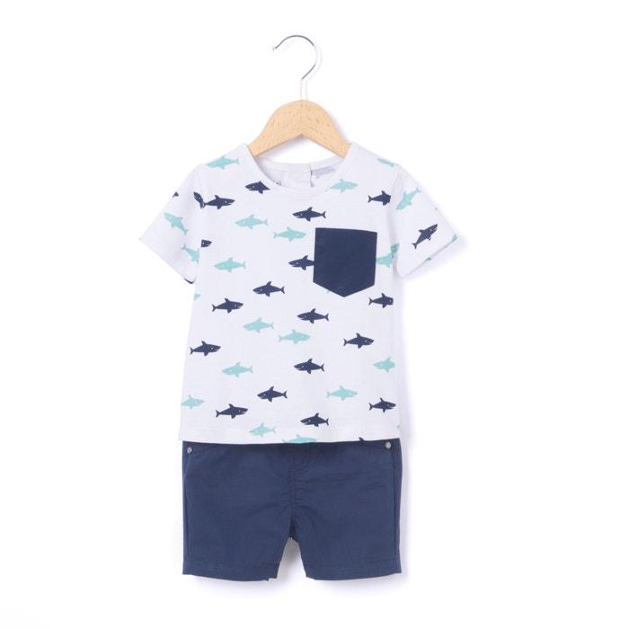 Imagen de Conjunto de camiseta + short 1 mes - 3 años La Redoute Collections