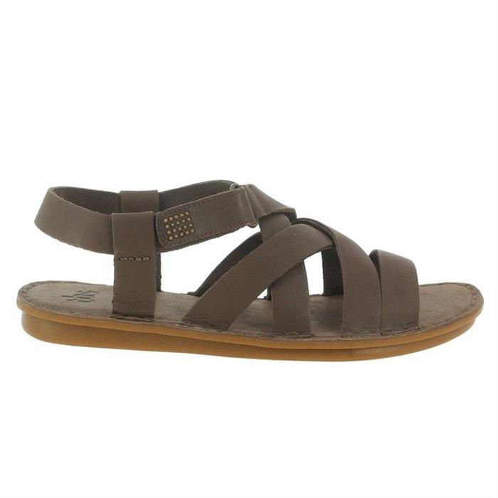 Sandales  /  nu-pieds cuir  noir Tbs  La Redoute