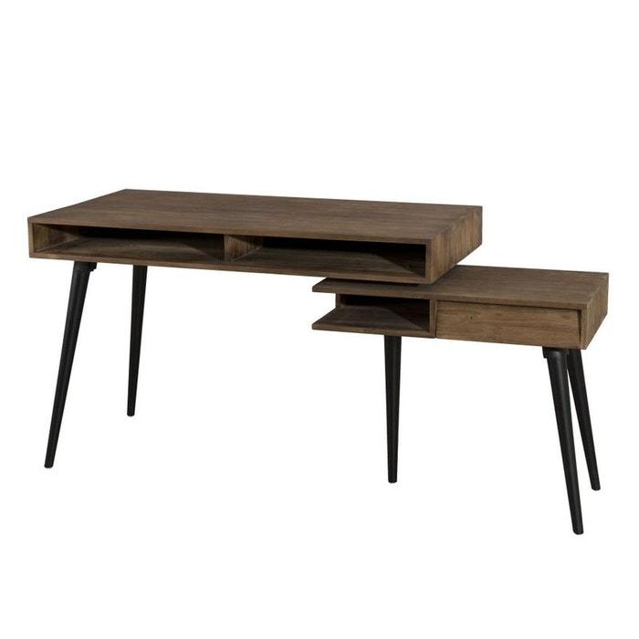 bureau rotatif scandinave teck recycl swing teck fonc. Black Bedroom Furniture Sets. Home Design Ideas