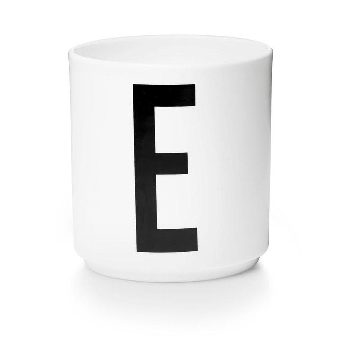 tasse porcelaine lettre e design letters la redoute. Black Bedroom Furniture Sets. Home Design Ideas