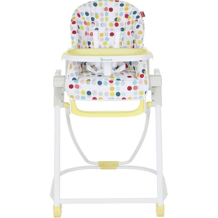 chaise haute compacte confetti jaune badabulle badabulle la redoute. Black Bedroom Furniture Sets. Home Design Ideas