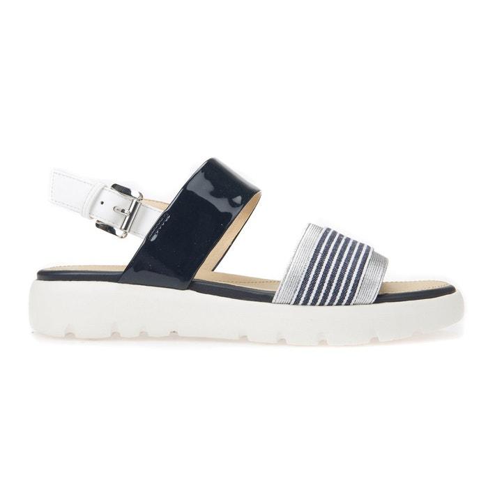 Sandales d amalitha c bleu marine/blanc Geox Pas Cher 2018 Vente Boutique Pas Cher l0eMlkLnM9