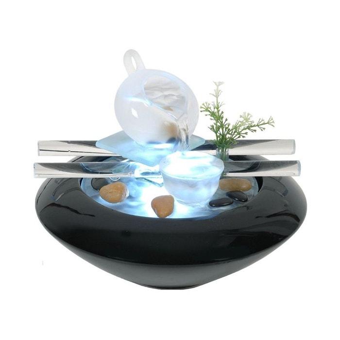 Fontaine d 39 int rieur avec clairage led tea time for Fontaine interieur bambou