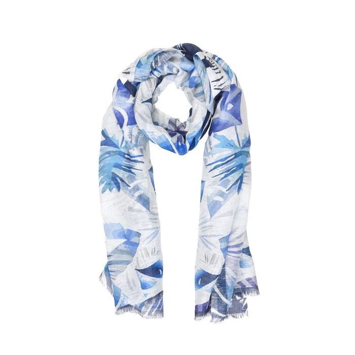 Foulard coton et lin imprimé ille de palmier Tie Rack   La Redoute 88afc5b555b