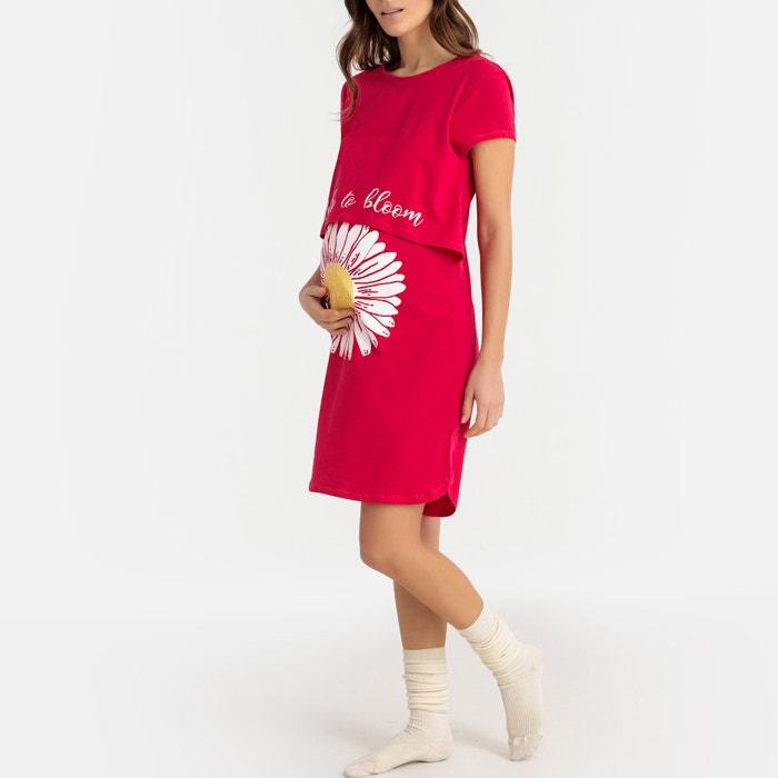 56fe8671c32 Camisón especial embarazo rosa La Redoute Maternité