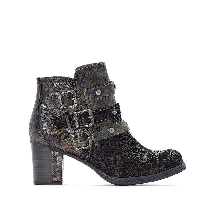 f87a0d62f8073b Boots à boucles à talon noir Mustang Shoes | La Redoute