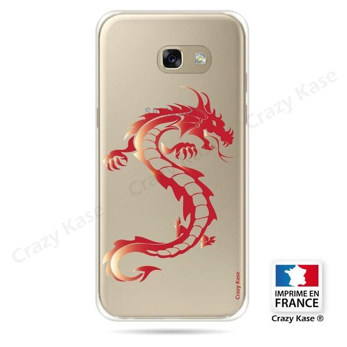 Coque pour Samsung Galaxy A5 (2016) souple Dragon rouge