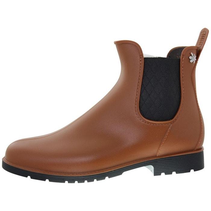 Bottines  /   boots pvc  marron Meduse  La Redoute