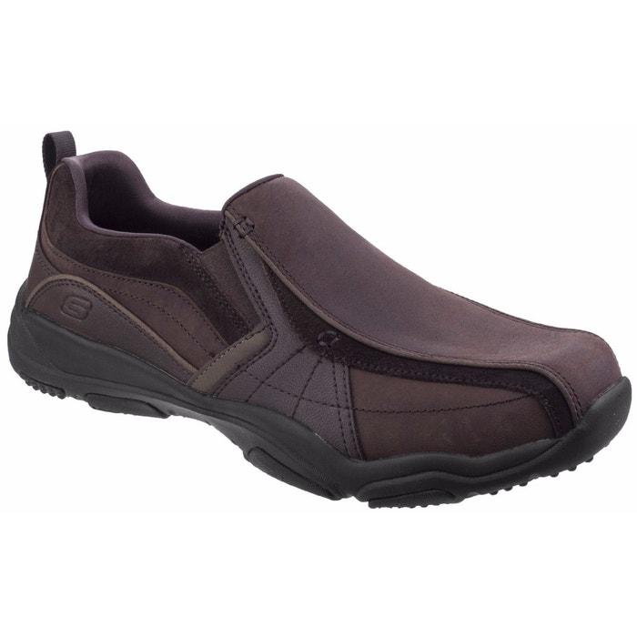 Chaussures sans lacets larson berto marron foncé Skechers   La Redoute 8fbc658cd1b6