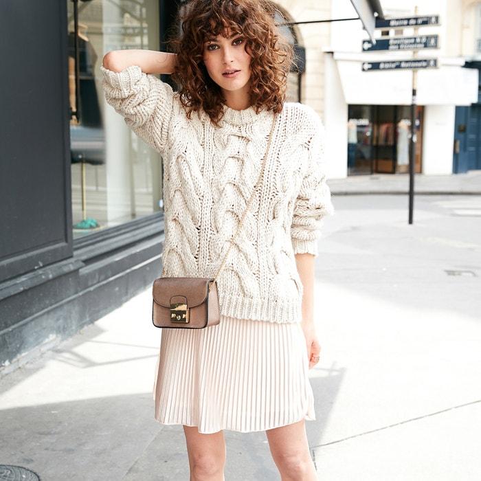 lana con grueso punto de trenzados La de Redoute Collections Jersey qRwpxnUCZ