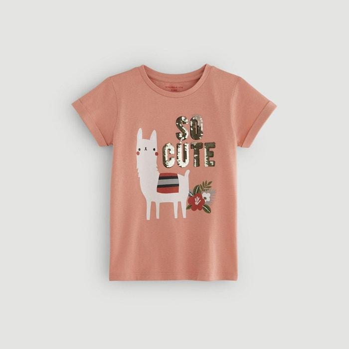 f8fa80837aca1 T-shirt manches courtes imprimé rose Monoprix Kids