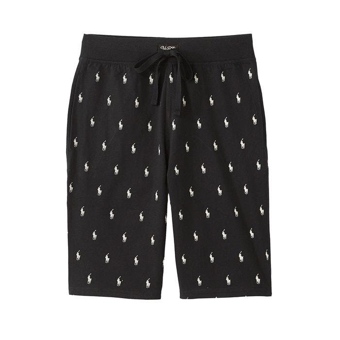 Short de pyjama Polo Ralph Lauren noir blanc   La Redoute 7993b29165ea