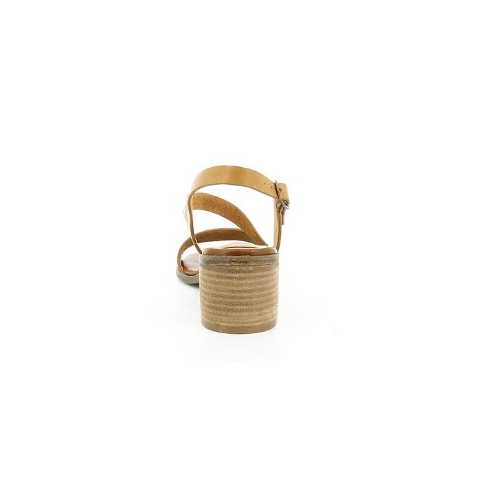 Sandales cuir femme volubil marron Kickers