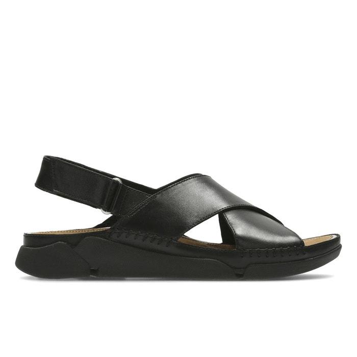 Sandales cuir plates tri alexia noir Clarks Acheter Pas Cher Footlocker Finishline Vente Vraiment 1EuPQD