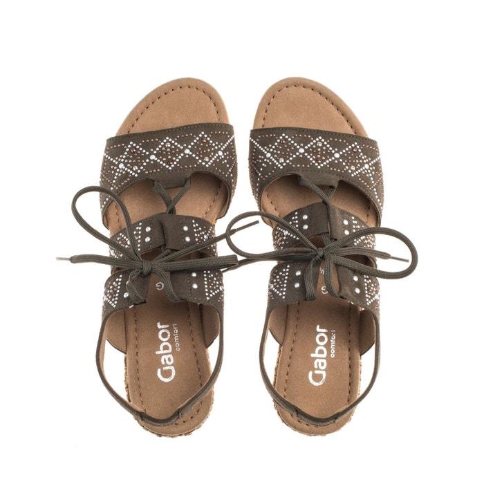 Sandales vert olive vert Gabor