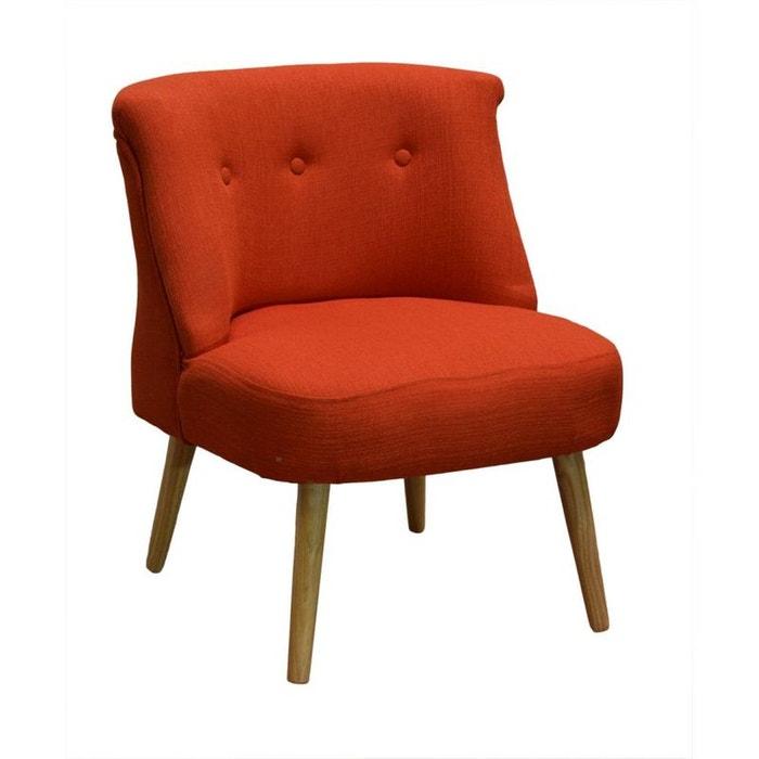 fauteuil crapaud capitonn tissu corail lylie corail pier. Black Bedroom Furniture Sets. Home Design Ideas