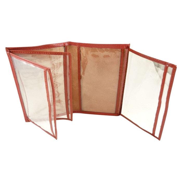 d0f6076192 Pochette de protection, etui porte carte grise, assurance, permis en croute  de cuir rouge Chaussmaro | La Redoute