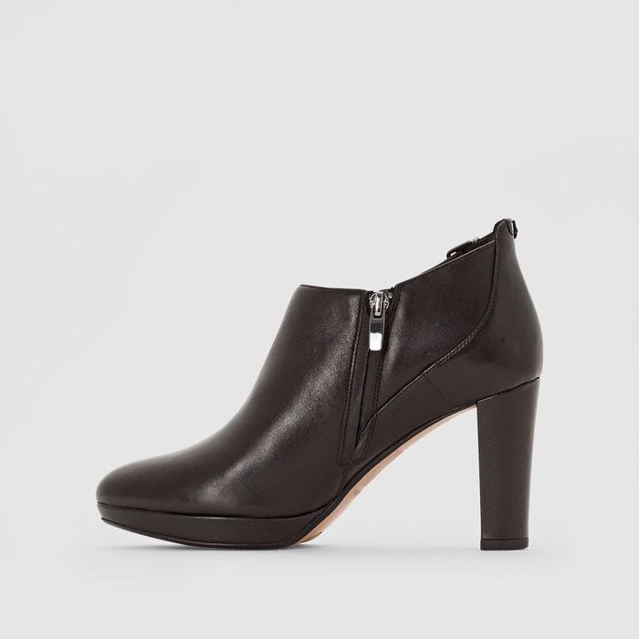 Boots en cuir à talon kendra spice noir Clarks