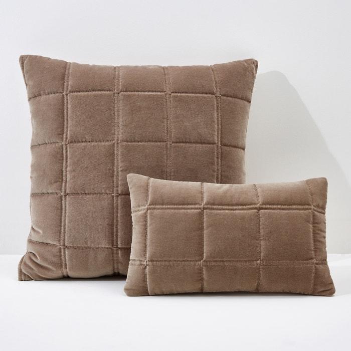 Image Federa per cuscino o guanciale PADOUE, trapuntata in velluto. La Redoute Interieurs