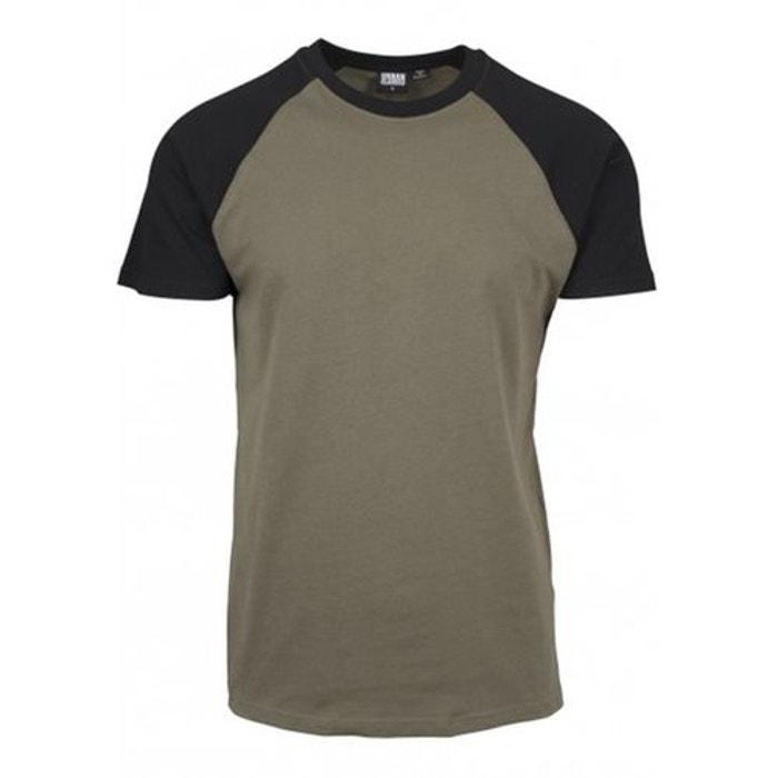 a230d671e6960 T-shirt manches raglan bicolore grande taille olive Urban Classics   La  Redoute