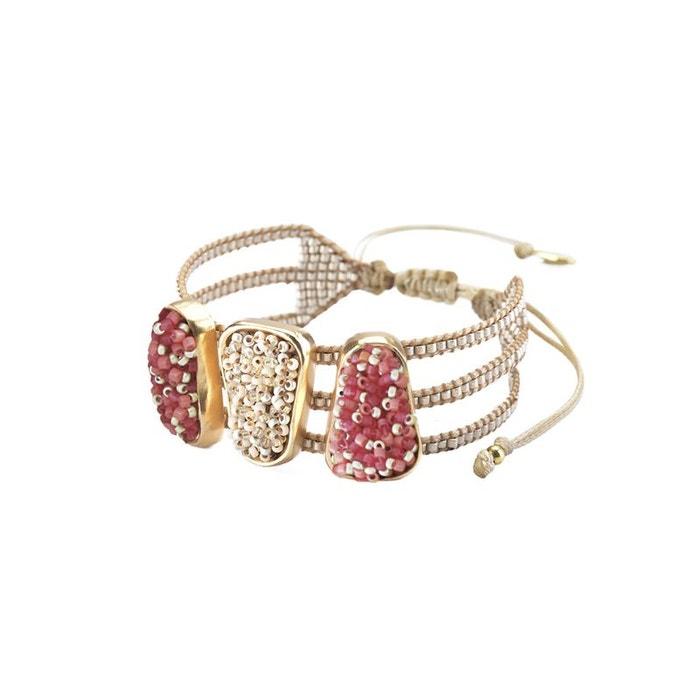 Sneakernews Bon Marché Bracelet femme 'pietre' rouge et blanc De La France La Vente En Ligne 22N0p8Pwj