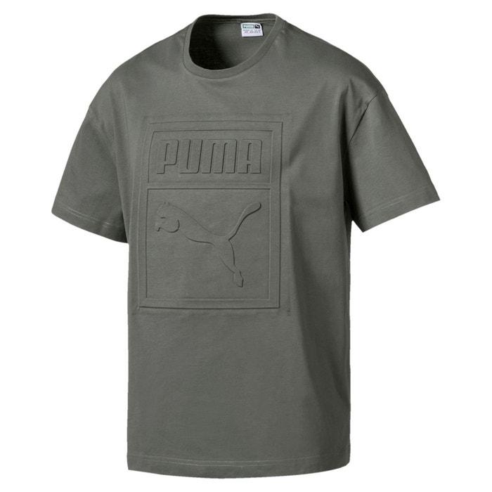 a29757c91025d Tee shirt col rond uni, manches courtes Puma   La Redoute
