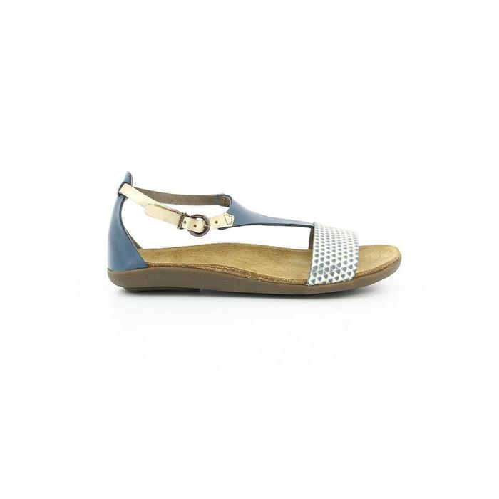 Sandales cuir femme amistad marine Kickers