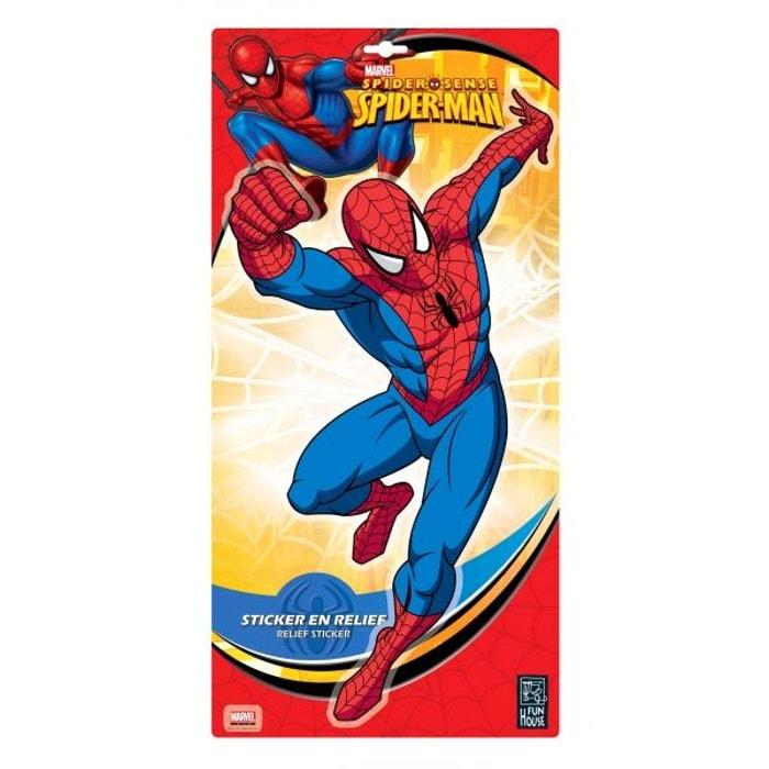Stickers spiderman grand modèle  décoration de chambre