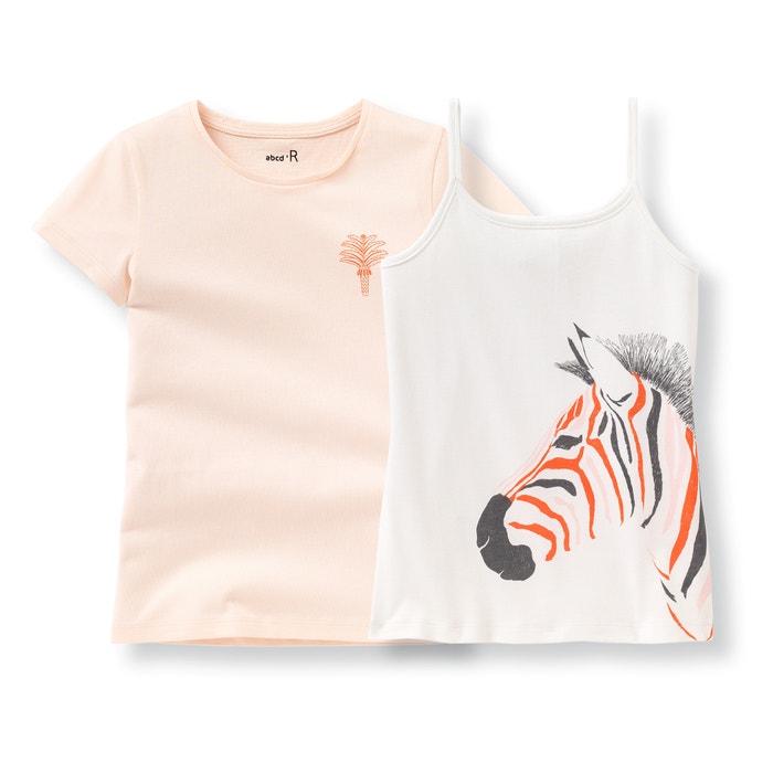 afbeelding T-shirt en hemdje (set van 2) La Redoute Collections