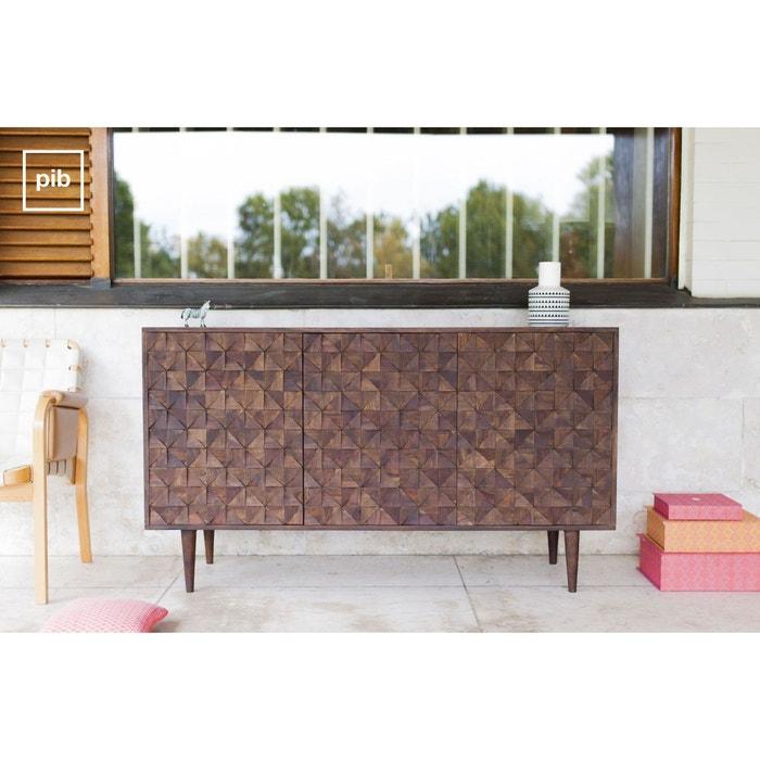 buffet en bois balkis bois fonce produit interieur brut la redoute. Black Bedroom Furniture Sets. Home Design Ideas