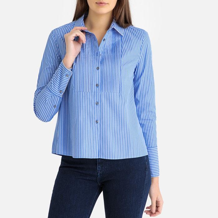 60ac29f21c632 Gestreept hemd blauw wit Tommy Hilfiger