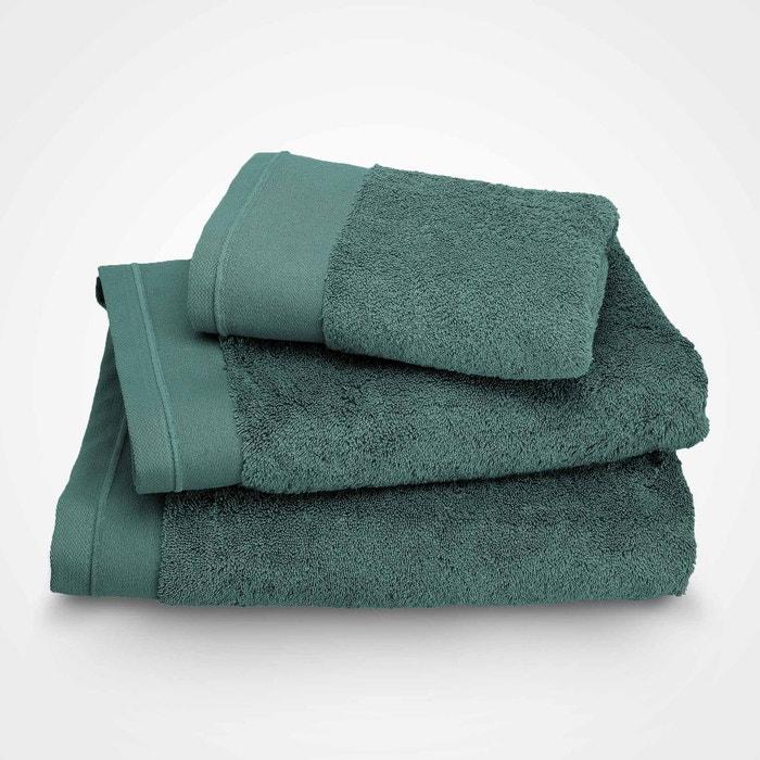 serviette de toilette coton peign 600 g m lagon lagon blanc cerise la redoute. Black Bedroom Furniture Sets. Home Design Ideas