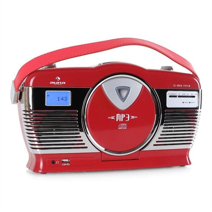 rcd 70 radio vintage ukw usb cd piles rouge autre auna la redoute. Black Bedroom Furniture Sets. Home Design Ideas