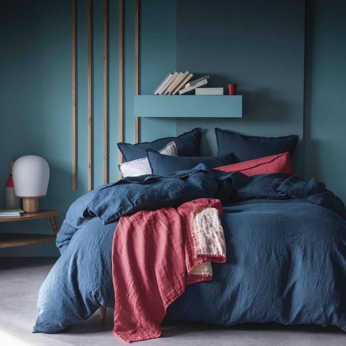taie d 39 oreiller lin lav 52 fils cm uni couleur. Black Bedroom Furniture Sets. Home Design Ideas