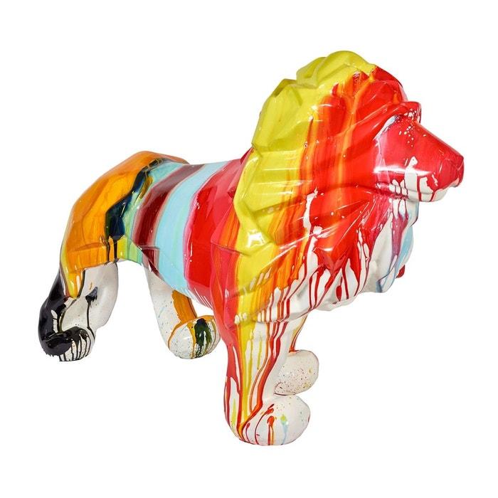 statue lion color e et design pour d co d 39 int rieur multicolore zendart la redoute. Black Bedroom Furniture Sets. Home Design Ideas