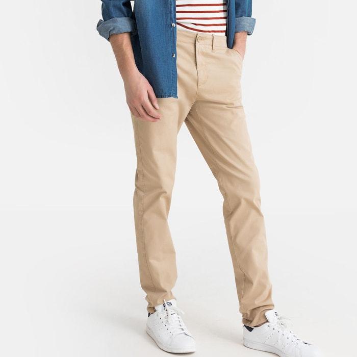 Pantalon chino coupe slim, coton stretch
