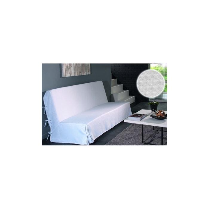Captivant Housse De Clic Clac à Nouettes Moderne Piqué Blanc Home Maison | La Redoute