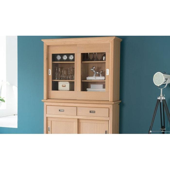 vaisselier 2 portes fabric coloris amande blanc hellin depuis 1862 la redoute. Black Bedroom Furniture Sets. Home Design Ideas
