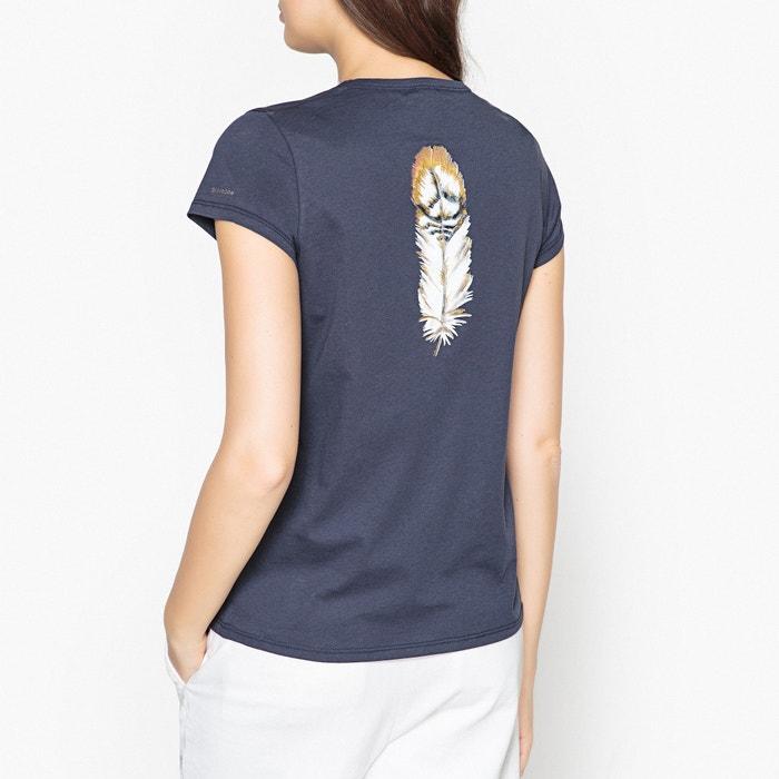 T-shirt scollo a V con piume e ricami TARA  BERENICE image 0