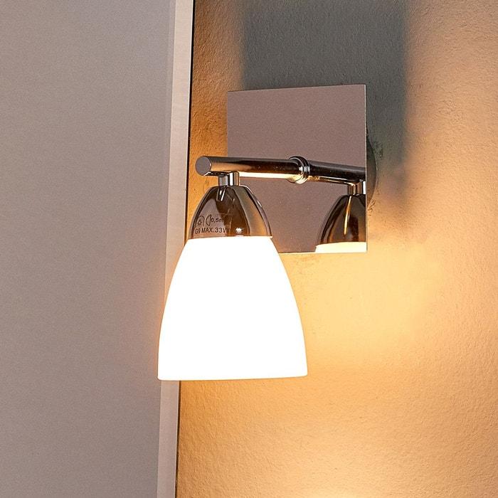 applique en verre chrom shana blanc chrom lampenwelt. Black Bedroom Furniture Sets. Home Design Ideas