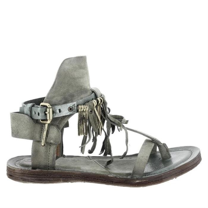 Sandales  /  nu-pieds cuir  kaki Airstep As98  La Redoute