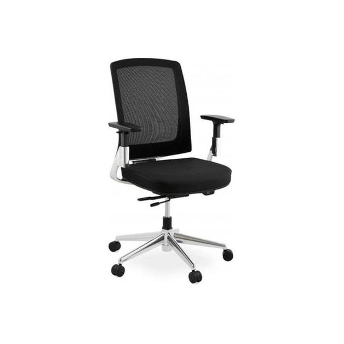chaise de bureau noire 65x68x111 cm awa noir declikdeco la redoute. Black Bedroom Furniture Sets. Home Design Ideas
